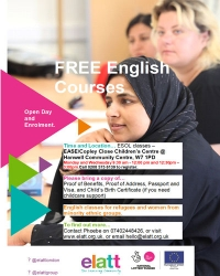 English classes for refugees and women from minority ethnic groups