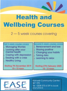 Health and Wellbeing courses